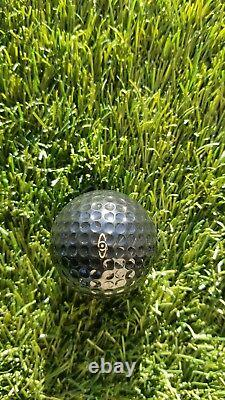 1978 VINTAGE PING EYE GOLF BALL SOLID BLACK GOLD LETTER'S original box new cond