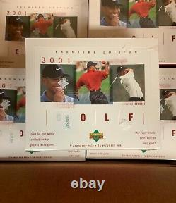 2001 UD Upper Deck Golf Box Factory NEW Sealed TIGER WOODS #1 RC FREE SHIPPING