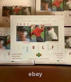 2001 UD Upper Deck Golf Box NEW Factory Sealed TIGER WOODS #1 Rookie Card