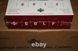 2001 Upper Deck Golf Premier Edition Box Factory Sealed Tiger Woods RC Brand New