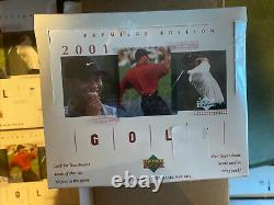 2001 Upper Deck Golf Sealed Box NEW Tiger Woods Rc Rookie Case Fresh Check pics