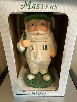 2018 Masters Golf Caddy Garden Gnome Statue Augusta Nat'l Very Rare New in Box