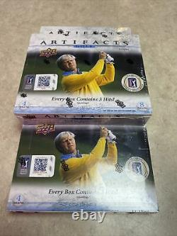 2021 Upper Deck ARTIFACTS GOLF Hobby Box Factory Sealed NEW In Hand