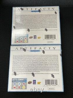 2021 Upper Deck UD Artifacts Golf Hobby Box Factory Sealed New 2 Boxes