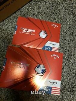 5 Dozen new in box white Callaway Chrome Soft USA golf balls
