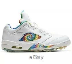 Air Jordan 5 Low G'Tie Dye' Golf Shoes Size 11 BRAND NEW IN BOX