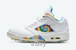 Air Jordan 5 Low G'Tie Dye' Golf Shoes Size 13 BRAND NEW IN BOX