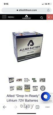 Allied 72V Drop-In Ready Battery. New In Opened Box. Retail $895 Golf Cart