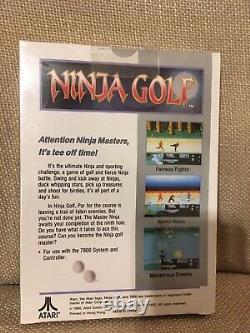 Atari 7800 Ninja Golf, New in Box, NIB, Factory Sealed & MINT