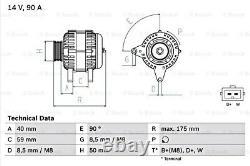 BOSCH Alternator 14V For VW SEAT SKODA FORD Bora Caddy II Pickup Mk 0986038370