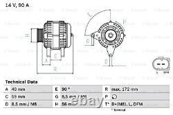 BOSCH Alternator 14V For VW SKODA SEAT Bora Caddy II Flight Fox Mk4 0986047250