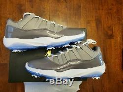 BRAND NEW JORDAN XI 11 COOL GREY GOLF SHOES size 8.5. Condition is New with box