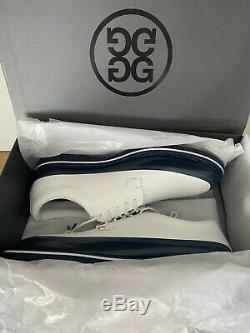 BRAND NEW W BOX! G/Fore Tuxedo Gallivanter White Grey Leather Golf Shoes Sz 12.5