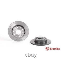 BREMBO 2x Bremsscheiben Voll Gelocht beschichtet 08.9488.1X