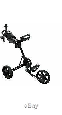 Brand New In Box CLIC Gear 4.0 Golf 3 Wheel Push Cart Trolley Black CLIC Gear