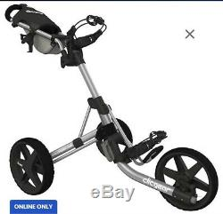 CLICGEAR 3.5+ 3.5 Plus Golf Push Cart Charcoal 3 Wheel BRAND NEW In Box