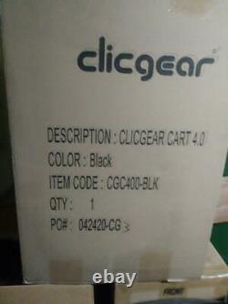 ClicGear Model 4.0 Golf Push Cart BLACK BRAND NEW in box