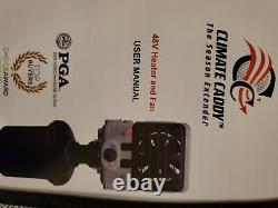 Climate Caddy 48V Electric Golf Cart Heater and Fan, Portable- Open Box-New
