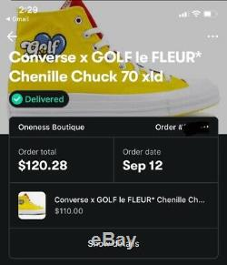 Converse one star x tyler creator golf le fleur Mens Size 12, NEW IN BOX