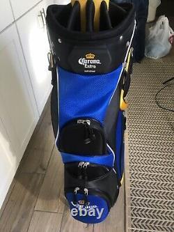 Corona Extra Blue/YellowithWhite Black Golf Bag Brand New Condition No Box