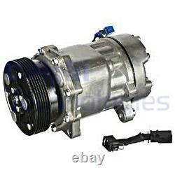 DELPHI AC Compressor For VW SEAT AUDI SKODA FORD Bora Caddy II Flight 1076012