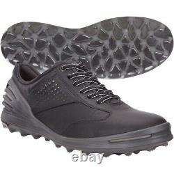 ECCO Mens Cage Pro Golf Shoe Black Size 42 M EU/8-8.5 DM US New With Box
