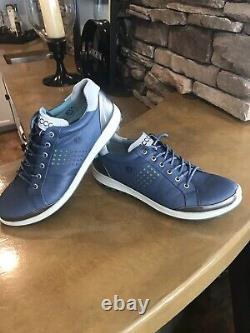 ECCO Mens Golf Shoe. Hybrid 2. Hydromax. NEW WithBox. Denim Blue