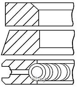 Engine Piston Ring Set Goetze Engine 08-109505-00 6pcs I 0.25mm For Vw