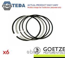 Engine Piston Ring Set Goetze Engine 08-137400-00 6pcs I Std For Vw 3.2l