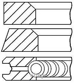 Engine Piston Ring Set Goetze Engine 08-405200-00 6pcs I Std For Vw Lt 28-35 I