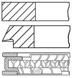 Engine Piston Ring Set Goetze Engine 08-502807-00 4pcs I 0.5mm For Vw Polo