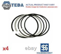 Engine Piston Ring Set Kolbenschmidt 800072710000 4pcs I Std For Vw Passat 2l