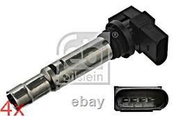 FEBI x4 pcs Ignition Coil For VW SKODA SEAT AUDI Beetle Bora Gp Cc Eos 36905715