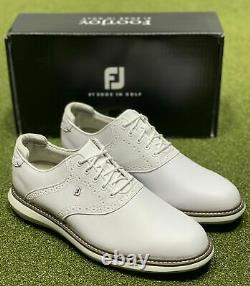 FootJoy 2021 Traditions Golf Shoes 57903 White 12 Medium (D) New in Box
