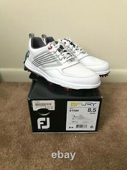 FootJoy Mens FJ Fury Golf Shoes 51100 8.5 M- White/Red NEW with Box