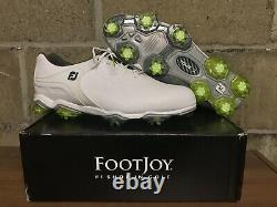 Footjoy Tour-S 55300 White/green Golf Shoes Sz 12 Wide New With Box