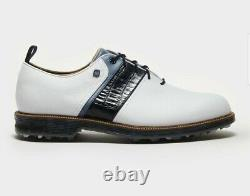 Footjoy x Todd Snyder Collab Premiere Golf Shoes White/Navy 11.5 M New with Box