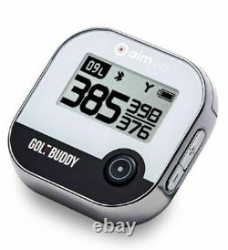 Golf Buddy Aim V10 Golf GPS Rangefinder Chrome / Black NEW in Box #62660