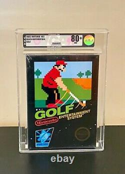 Golf Nintendo NES Black Box Circle Seal Brand New Sealed VGA 80+ Rare