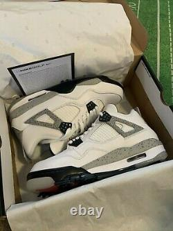Jordan 4 IV Golf Shoes White Cement size 9.5 NEW with box