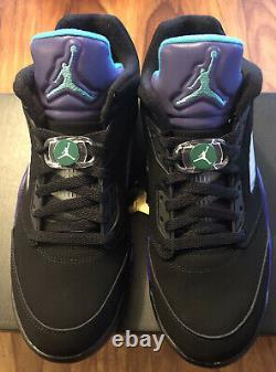 Jordan V 5 LOW RETRO GOLF BLACK GRAPE Size Mens 10.5 CU4523 001 NEW IN BOX