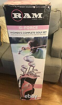 LADIES RIGHT HANDED RAM G-FORCE Complete Golf Set- New Open Box