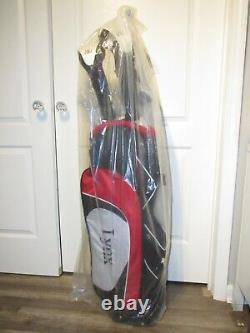 Lynx Power Tune Men's Complete 11-Piece RH Golf Club Set & Cart Bag NEW OPEN BOX