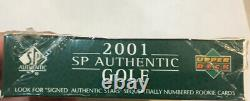 NEW 2001 UPPER DECK SP AUTHENTIC GOLF TIGER WOODS Sealed HTF BOX