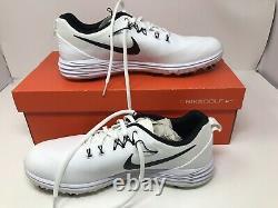 NEW Nike Shoes Golf Lunar Command 2 White Black Size 10 US Men w Box Swoosh