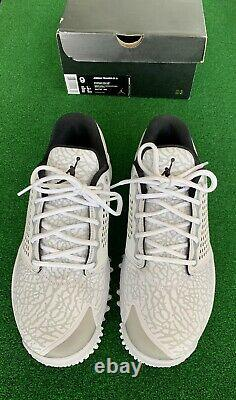 NEW WithBOX NIKE AIR JORDAN TRAINER ST GOLF SHOES WHITE Mens Sz 9
