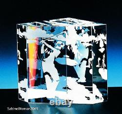 NEW in BOX STEUBEN Glass GOLF CRYSTAL paperweight ornament putter tee wedge art