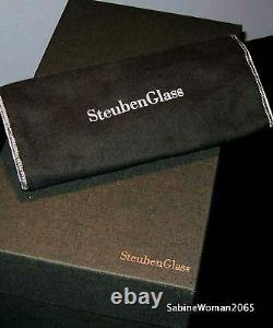 NEW in BOX STEUBEN Glass LARGEST GOLF CRYSTAL paperweight putter wedge iron art