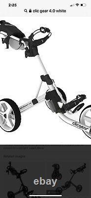 New Golf Clicgear Model 4.0 Golf Push Cart Artic White New In Box