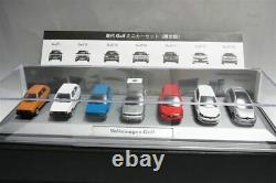 New Golf Volkswagen Dos Auto. VW 7 Minicar Set 1/87 with Box Shipped from Japan